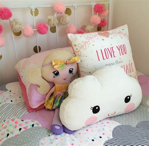 pillow for toddlers ins white smile cloud cushion cotton pillow