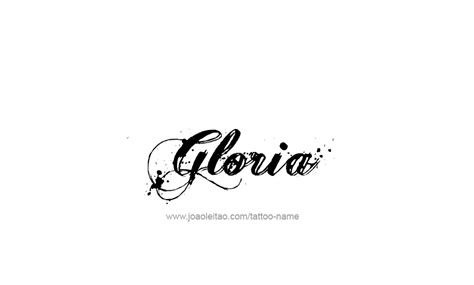 tattoo name gloria tattoo design name gloria 26 png