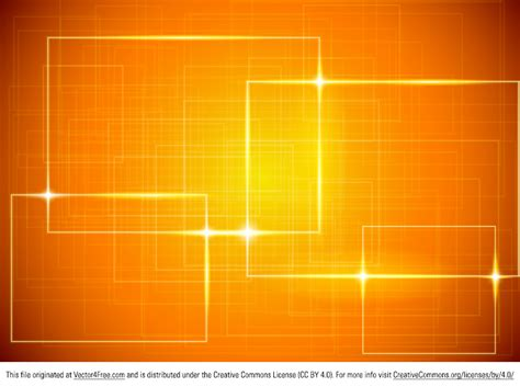Cool Frame Designs by Free Shiny Orange Vector Background