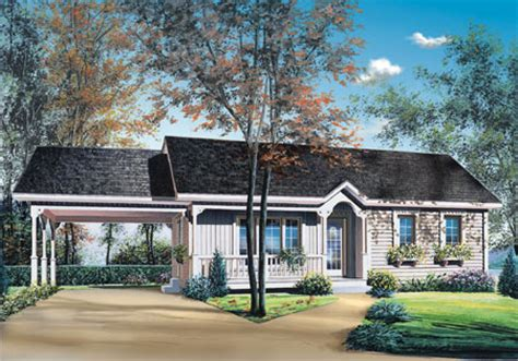 Plan 21040dr 2 Bedroom Ranch With Carport Ranch House Plans With Carport