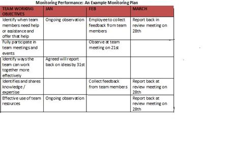 Monitoring Performance How To Put Together A Monitoring Plan Monitoring Plan Template