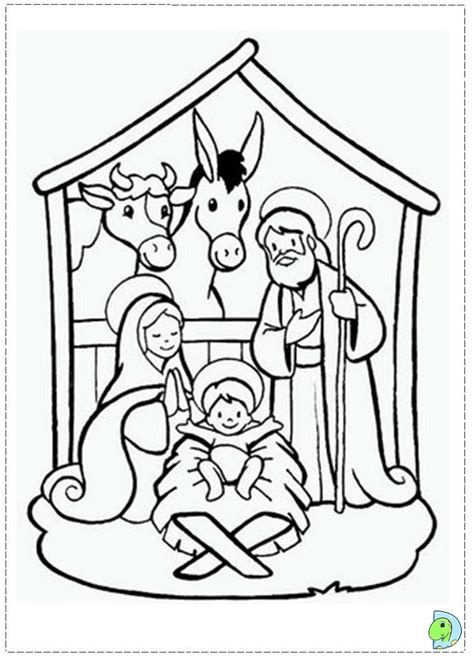 Nativity Coloring Page Dinokids Org Printable Nativity Coloring Pages