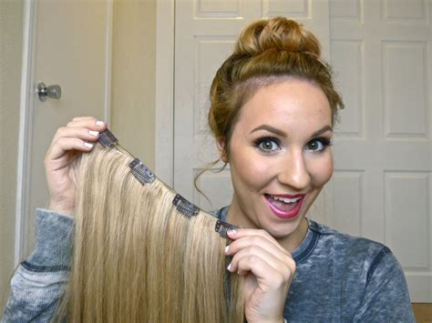 pics of short hair with weave clips diy how to make your own clip in hair extensions youtube