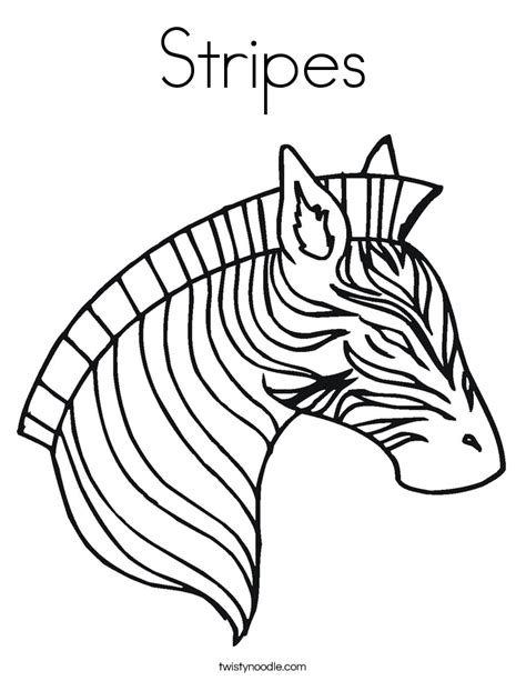 Stripes Coloring Pages stripes coloring page twisty noodle