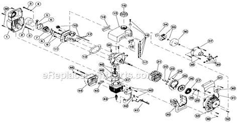 craftsman tiller parts diagram craftsman 316292621 parts list and diagram