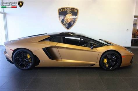 Gold Lamborghini For Sale Unique Brushed Gold Lamborghini Aventador For Sale