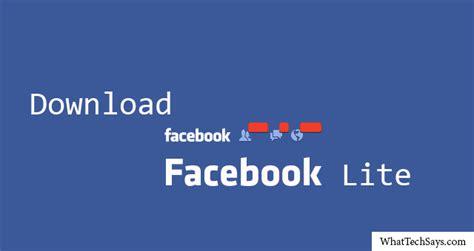 facebook lite download facebook lite android app