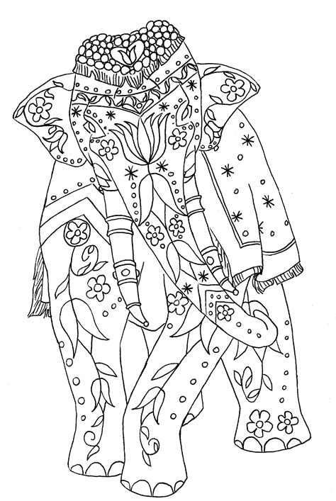 elephant coloring pages to print for adults free coloring pages of elephant patterns