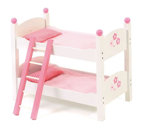 Dolls Bunk Beds Uk Bayer Chic 2000 Fiori Bianco Dolls Wooden Bunk Beds White Pink