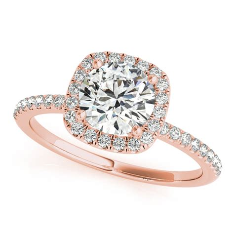 rose gold engagement rings diamonds cubic zirconia cz
