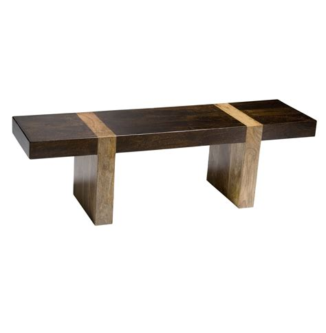 modern wooden bench berkeley solid wood modern rustic bench low console