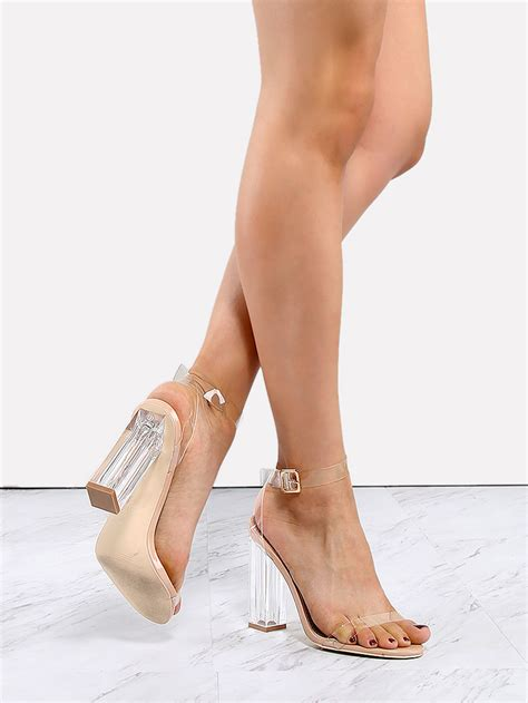 high heels clear clear perspex heels transparent makemechic