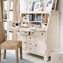 Small White Desk With Hutch Thirty Seventh Avenue Secretary Desks