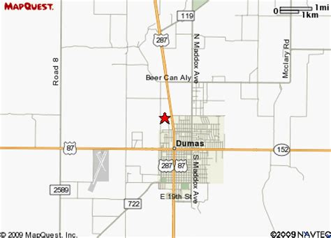 dumas texas map our location click for detailed map