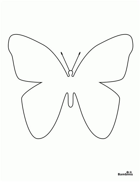 Simple Coloring Pages Of Butterflies | simple butterfly coloring page coloring home
