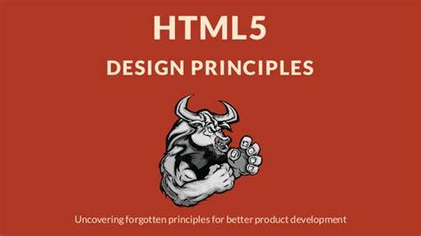 html5 typography html5 design principles