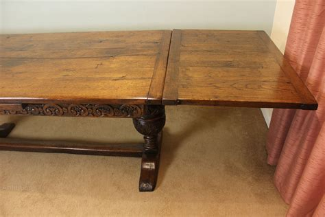 antique draw leaf table antique refectory draw leaf farmhouse dining table