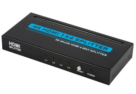 Hdmi Spliter 4 Port By Sofwancell hdmi splitter crhouse technology inc computer parts