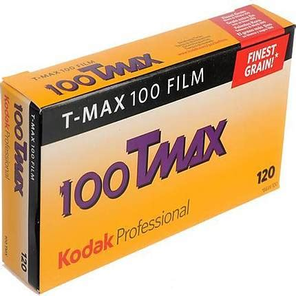 kodak tmx 120 t max 100 black and white film (5 pack) no