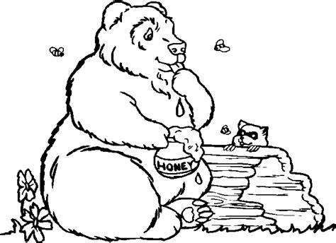 Bubba Bear Coloring Page | free coloring pages of blush the bear