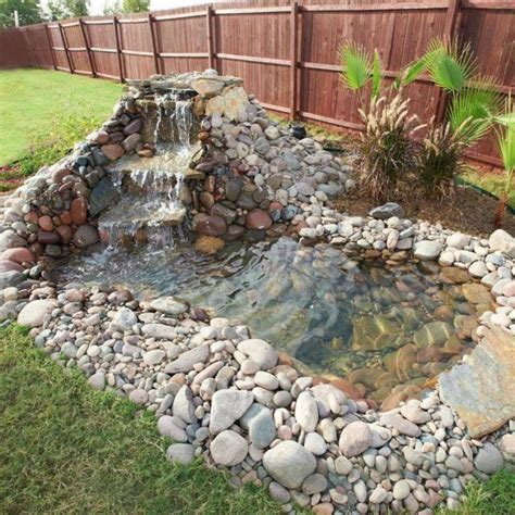 how to make a backyard waterfall build a backyard pond and waterfall home design garden
