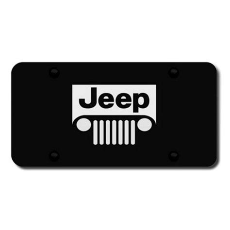 jeep grill logo autogold 174 pl jeeg eb jeep grill logo on black license plate