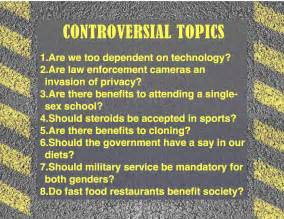 Controversial Topics For Essays by Bring On The Debate Kristen Dembroski Ph D