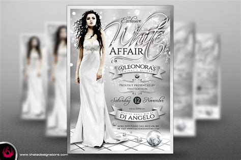 white party flyer template 2 psd templates store