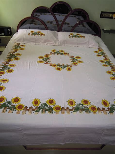 bed sheet fabric options fabric painting on bed sheet craftziners bed sheet design