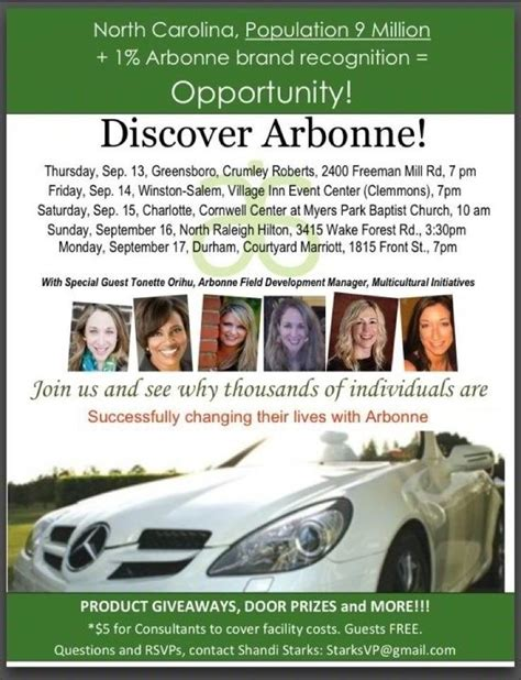 Discover Arbonne Charlotte Tickets Sat Sep 15 2012 At 10 00 Am Eventbrite Free Arbonne Flyer Templates