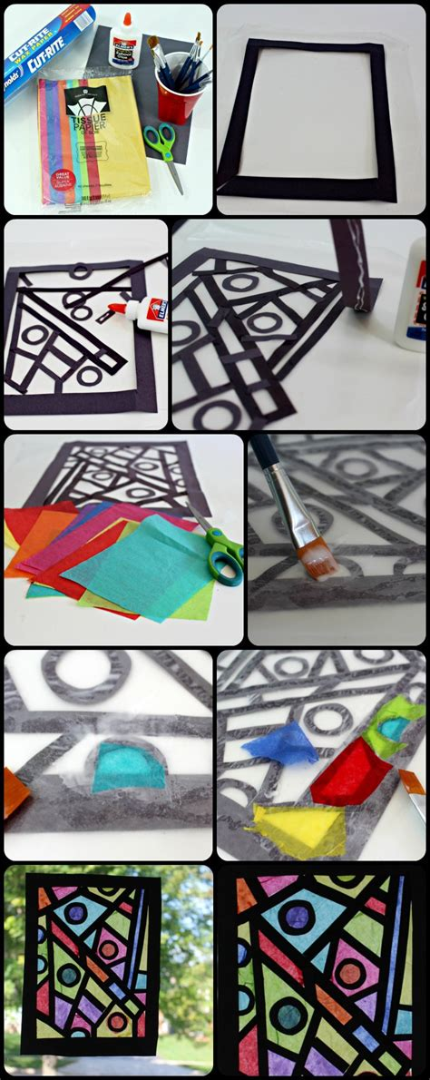 Paper Stained Glass Window Craft - paper craft idea how to make your stained glass window