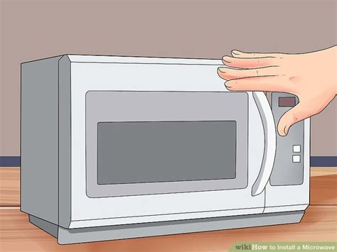 how to install the range microwave without a cabinet how to install a microwave 12 steps with pictures wikihow