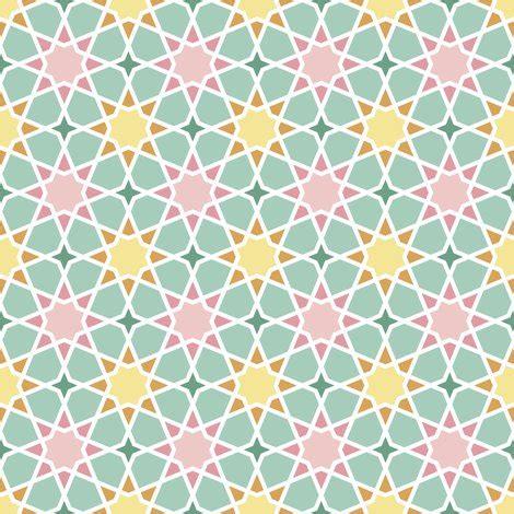 octagonal spring flower geometric fabric sef spoonflower
