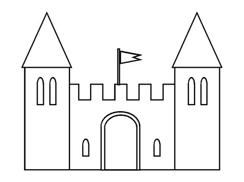 castle drawing template the gallery for gt simple castle outline