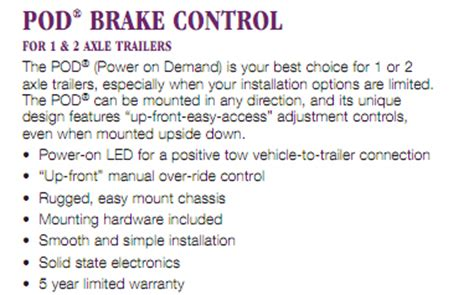trailer hitch hitch electric trailer brake controls