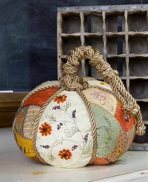 Patchwork Pumpkin - embroidery pattern patchwork pumpkin