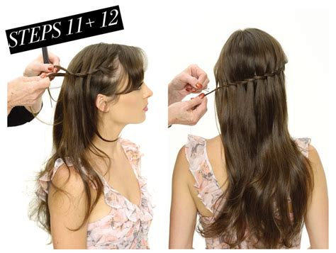 waterfall braid wedding hair step by step wedding hair how to modern wedding