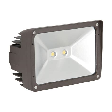 Home Depot Outdoor Flood Lights Luminance Adl Lumin 30 Watt Bronze Outdoor Led Flood Light F7394 66 The Home Depot