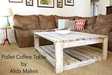 Pallet Coffee Table Pinterest How To Whitewash A Pallet Coffee Table Diy Alida Makes Furniture Pinterest Brown