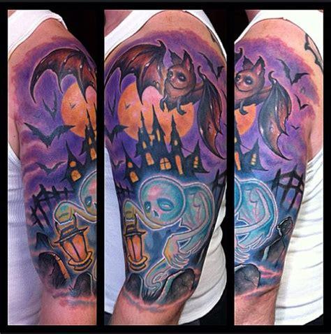 tattoo old school halloween schulter fantasie halloween tattoo von the art of london