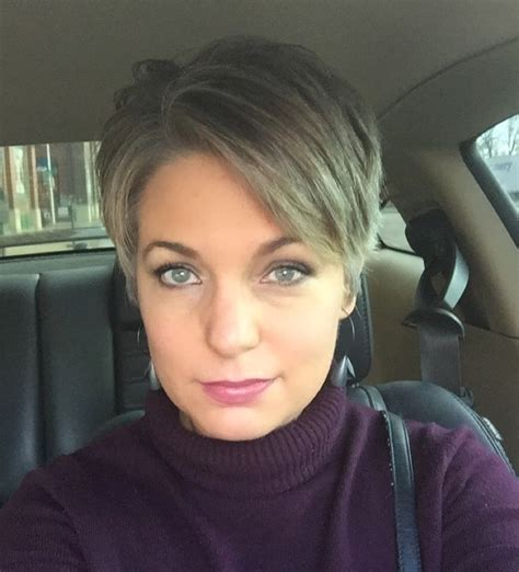 hairstyles while growing out grey stephanie weisend short grey hair grey pixie growing
