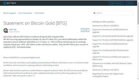 bitcoin gold bittrex the biggest announcement on bittrex exchange about bitcoin