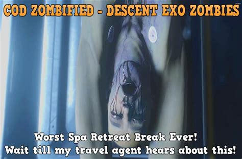 exo zombies descent map zombified call of duty zombie map layouts secrets