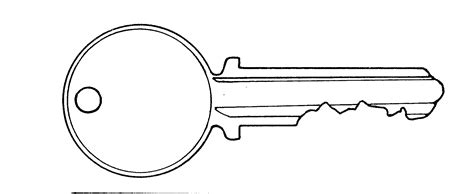 template of a key image gallery key outline clip