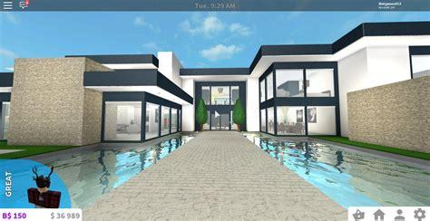 1 floor mansion bloxburg bloxburg modern house tutorial 1 floor wikizie co