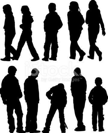 teen silhouettes stock vector freeimages.com