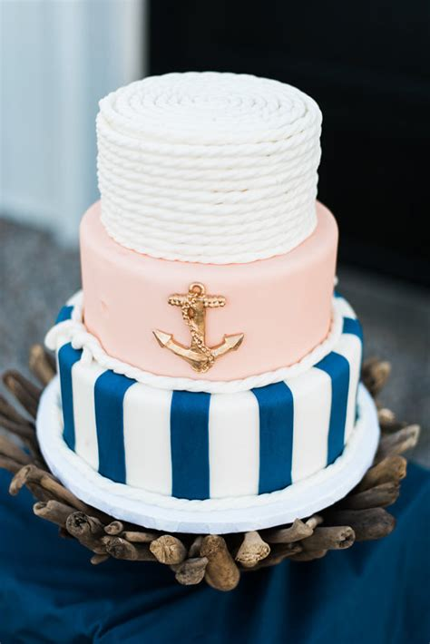 modern nautical wedding inspiration wedding 100 layer cake