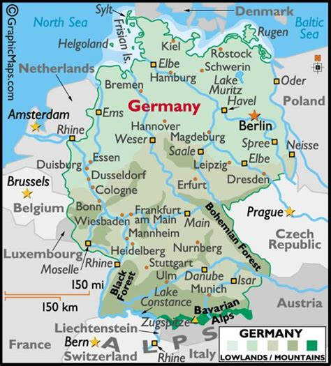 maps of germany with cities and towns rhine river germany cruise guide