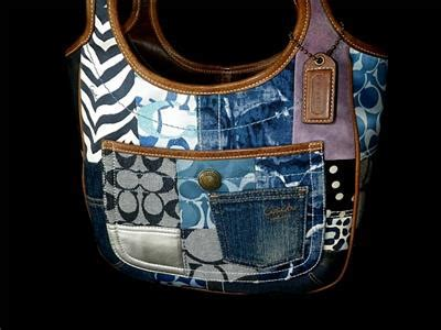 Coach Ergo Patchwork Tote by Coach Indigo Denim Ergo Signature Suede Patchwork Shoulder