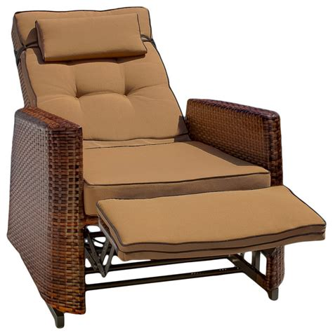 Patio Recliner Chairs Coastal Style Recliners With Wicker Home Decoration Club